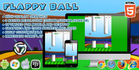 CodeCanyon Flappy Ball HTML5 Game 6860303