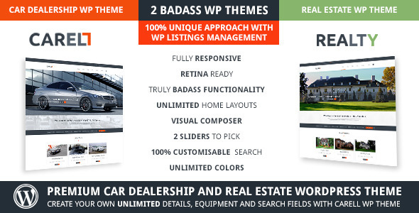 ThemeForest Carell Real Estate & Car Dealership WP Theme 6811488