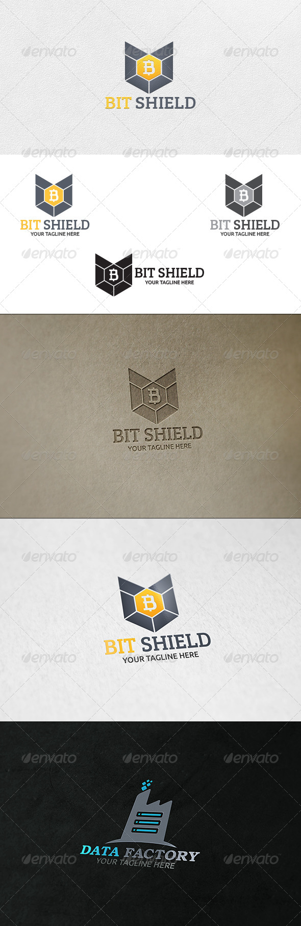 GraphicRiver Bit Shield Logo Template 6860383