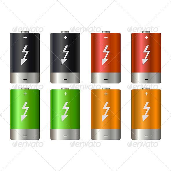 GraphicRiver Battery Illustration 6862237