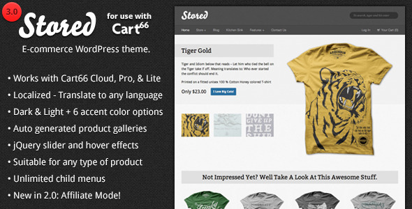 Stored - Ecommerce WordPress Theme for Cart66 - Cart66 eCommerce