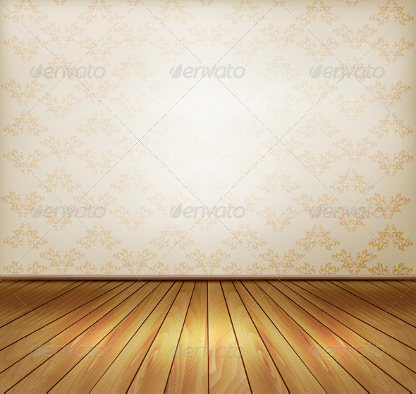 GraphicRiver Background with Old Wall and a Wooden Floor 6862792