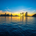 Miami Florida, sunset  with business and residential buildings - PhotoDune Item for Sale