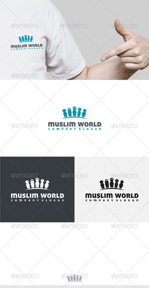 GraphicRiver Muslim World Logo 6863571