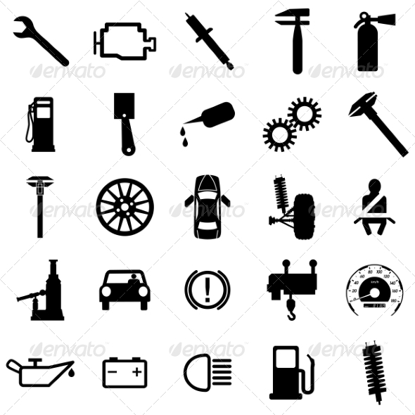 GraphicRiver Collection of Flat Car Icons 6863680