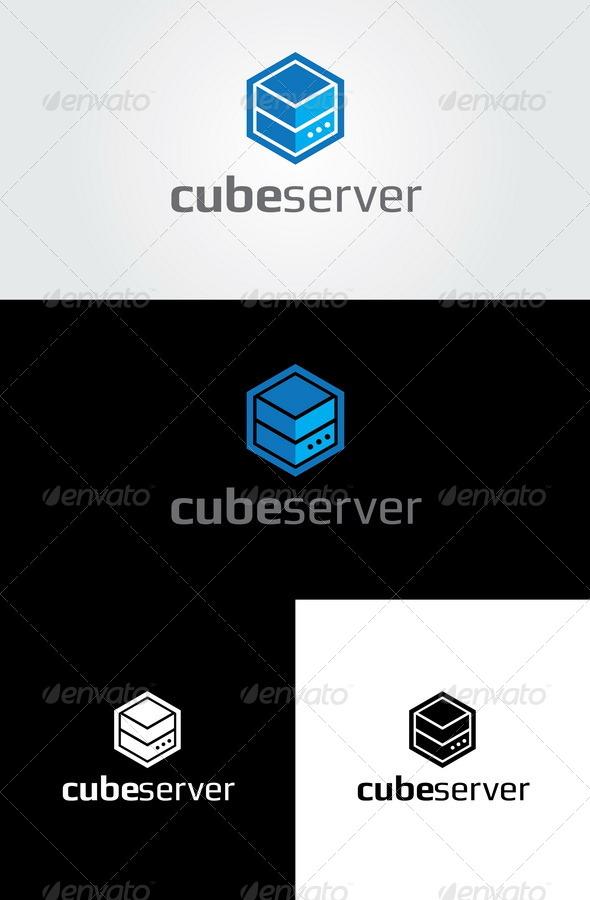 GraphicRiver Cube Server Logo Template 6864108