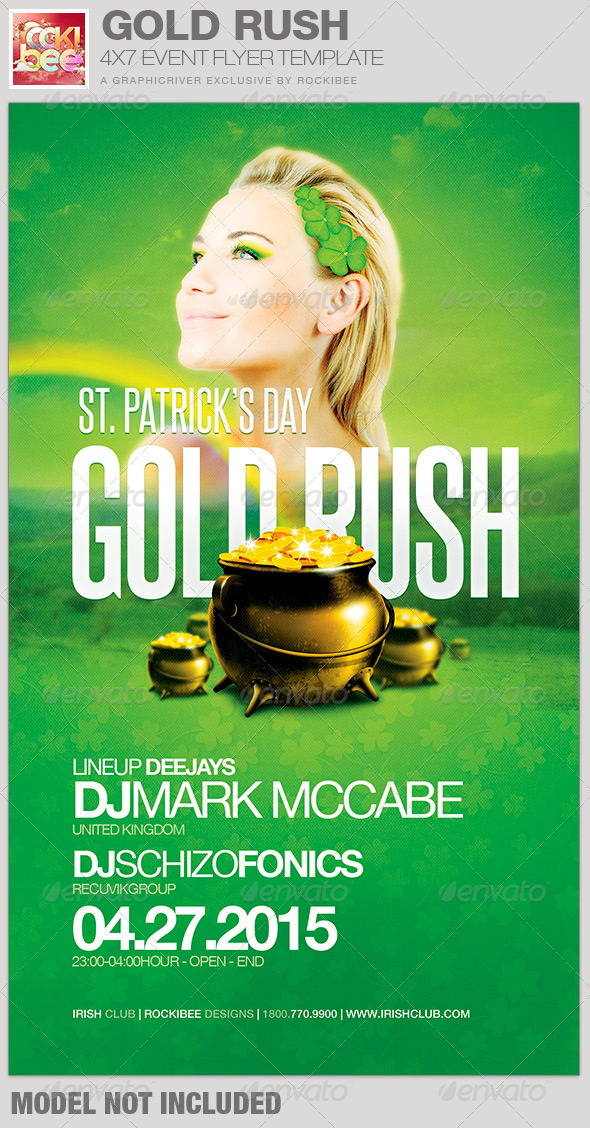 GraphicRiver Saint Patrick s Day Gold Rush Event Flyer Template 6864246