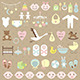Set of Baby Shower Elements - GraphicRiver Item for Sale