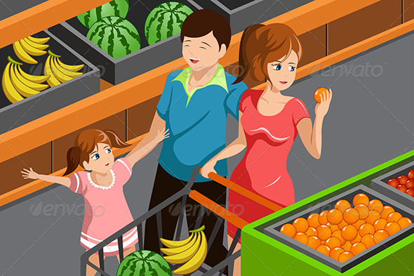 GraphicRiver Family Shopping Grocery 6864951