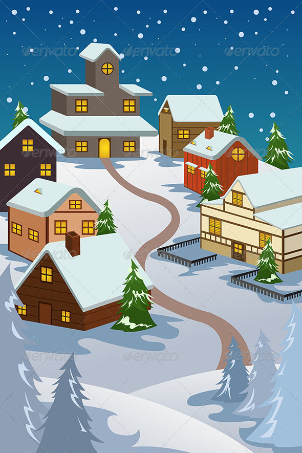 GraphicRiver Winter Village 6864954