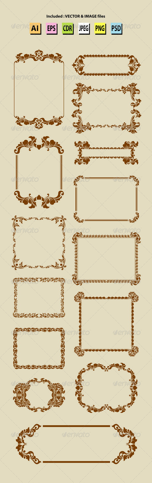 GraphicRiver Vintage Label Ornaments 6580832