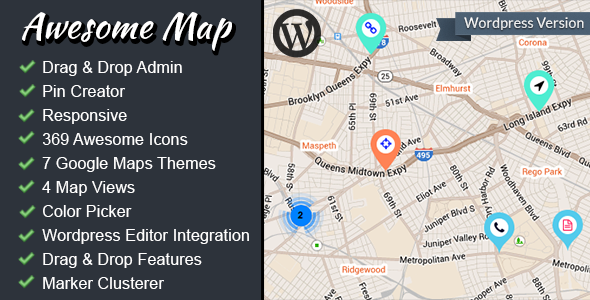 CodeCanyon Awesome Map WP Fully Customizable Markers Map 6849728
