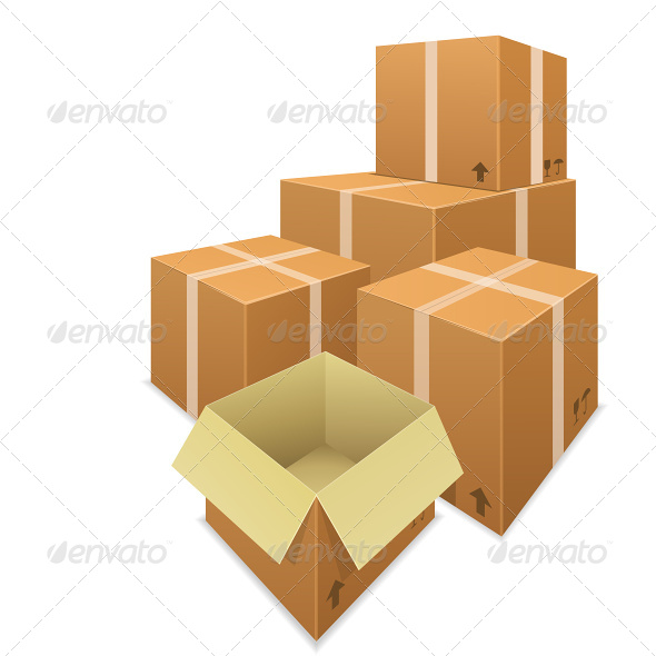 GraphicRiver Stacks of Cardboard Boxes 6866099