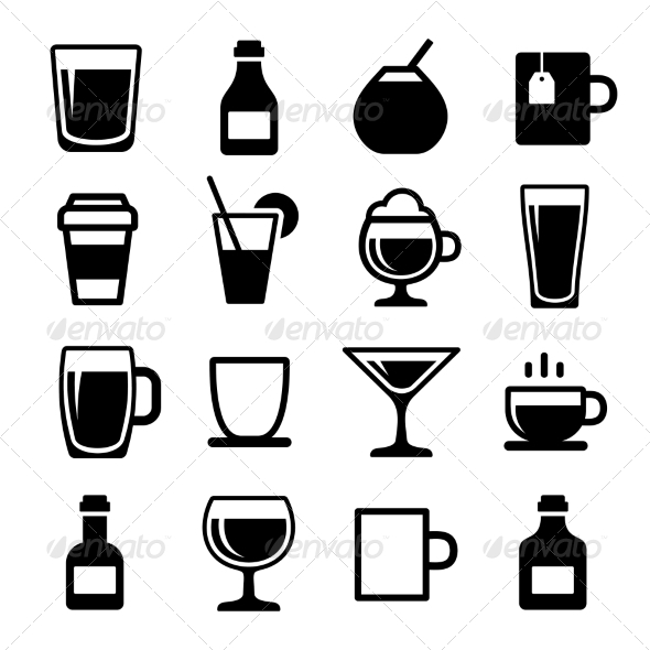 GraphicRiver Drink and Beverage Icons Set 6866416