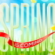 Spring Greeting - Letters on a Sunny Landscape - GraphicRiver Item for Sale