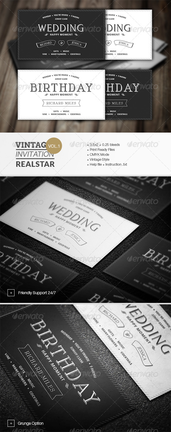 GraphicRiver Vintage Invitation 6858807