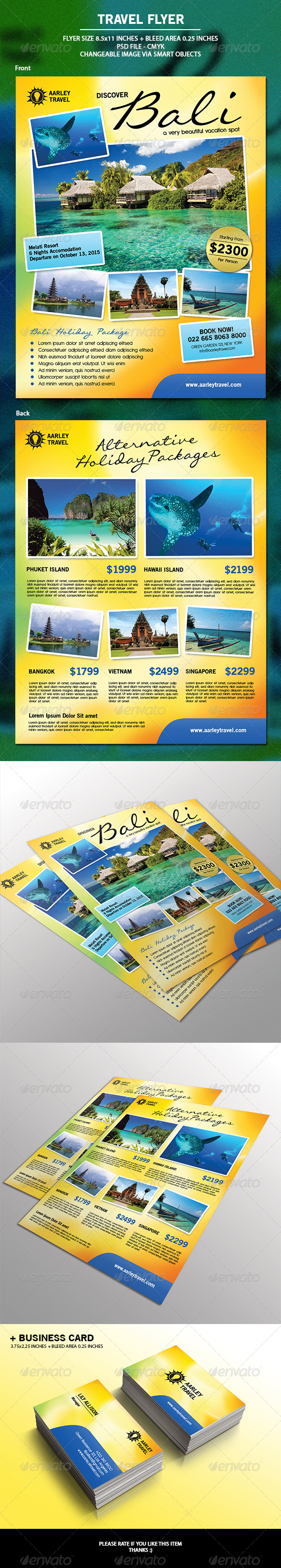 GraphicRiver Travel Flyer & Business Card 6867642