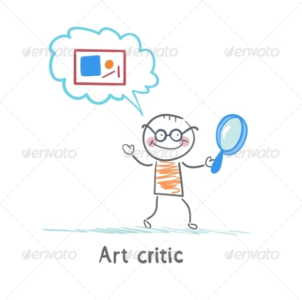 GraphicRiver Art Critic with Magnifying Glass 6867659