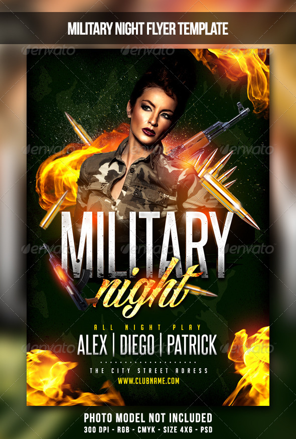 GraphicRiver Military Night Flyer 6867691