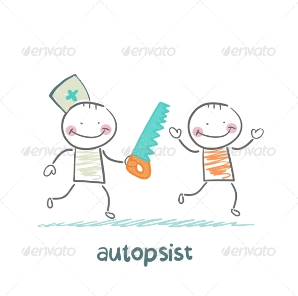 GraphicRiver Autopsist with a Saw 6867862