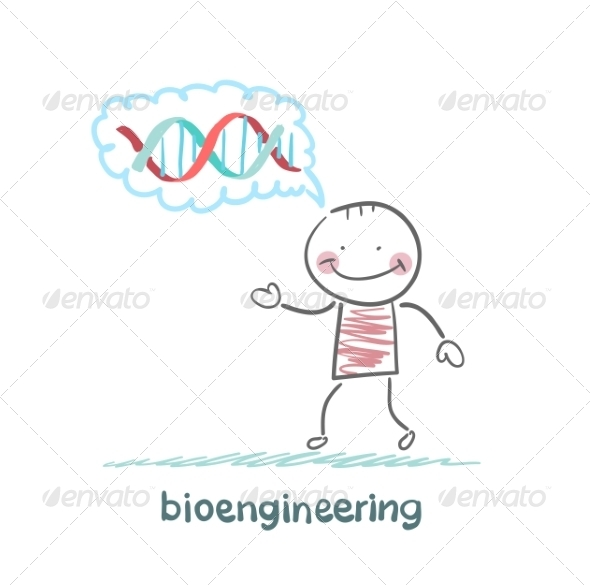 GraphicRiver Bioengineer Thinks of Human DNA 6867873