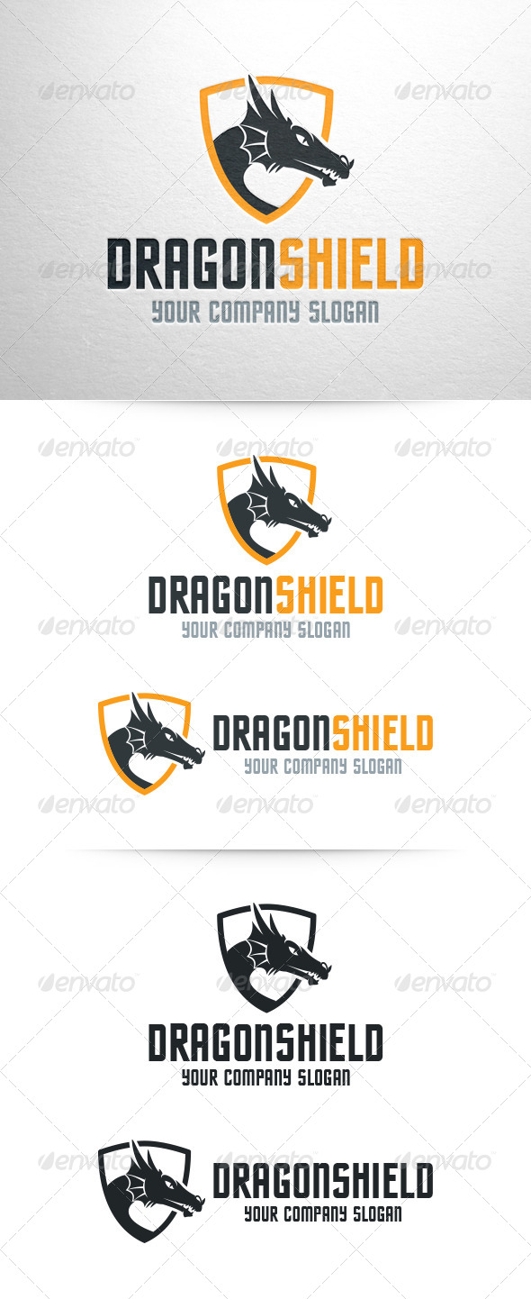 GraphicRiver Dragon Shield Logo Template 6868259