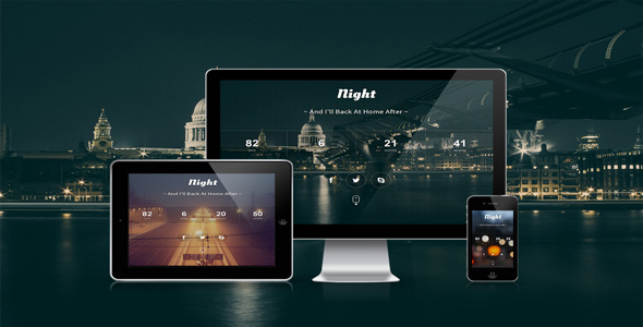 Night - Responsive Html Coming Soon Template