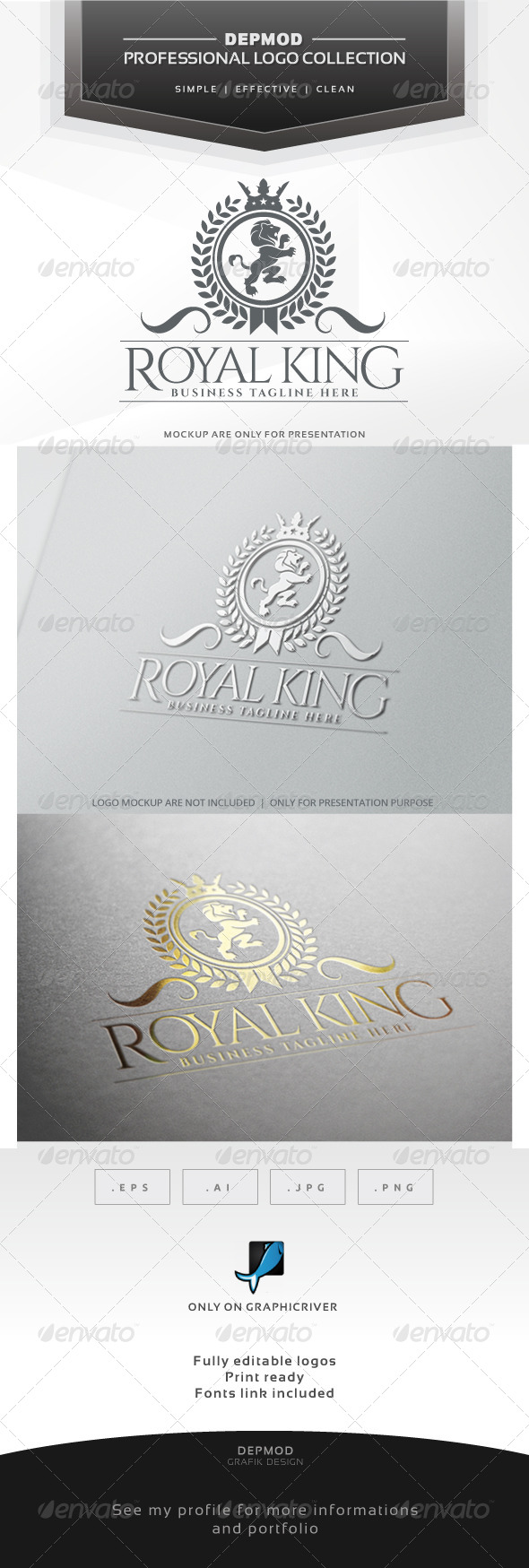 GraphicRiver Royal King Logo 6868699