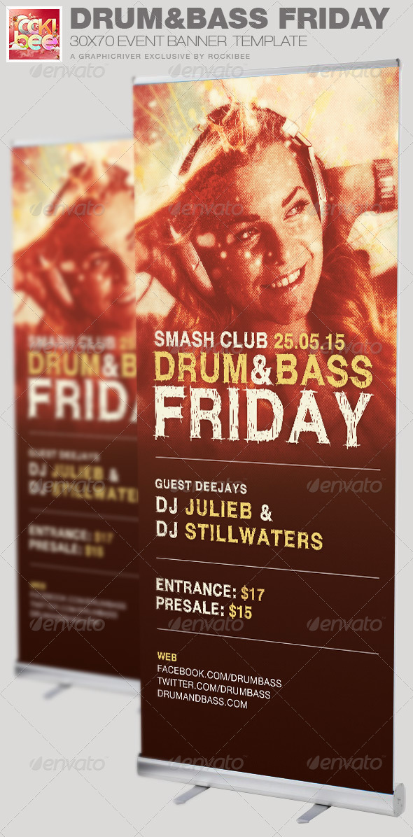 GraphicRiver Drum and Base Friday Event Banner Template 6869408