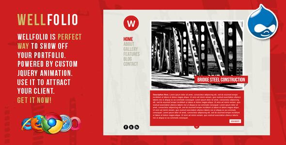 ThemeForest Wellfolio Perfect Minimalist Portfolio Template 548573
