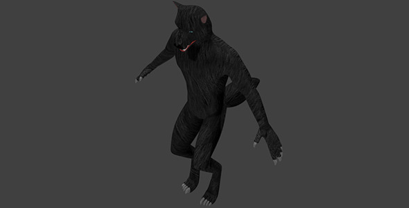 3DOcean Low Poly Werewolf 6859705