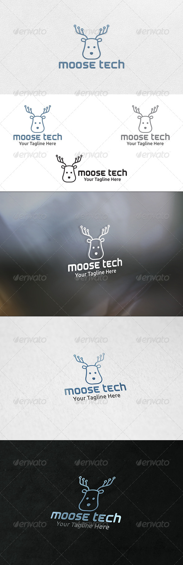 GraphicRiver Moose Tech Logo Template 6870063