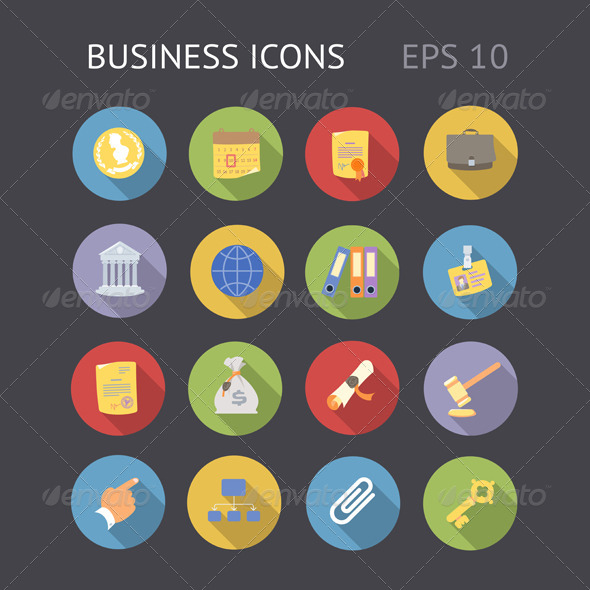 GraphicRiver Flat Icons for Business 6870212