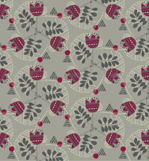 GraphicRiver Retro Floral Background 6870213