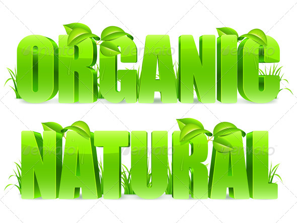 Organic and Natural Words - Health/Medicine Conceptual