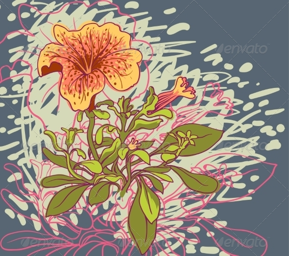 GraphicRiver Retro Floral Background 6870482