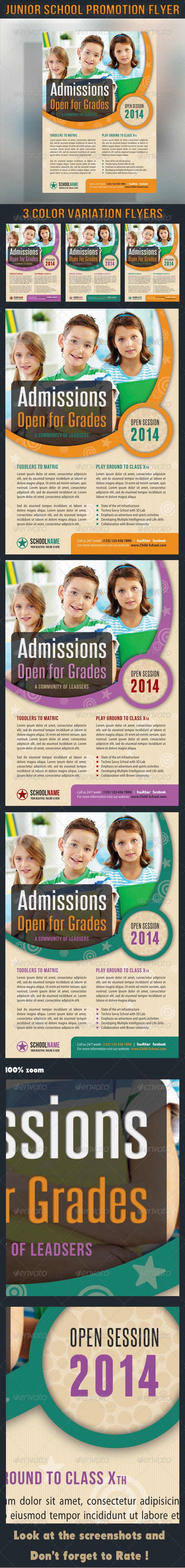 GraphicRiver Junior School Promotion Flyer 6870891