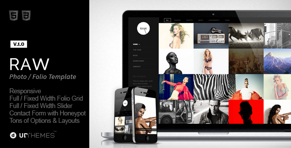 ThemeForest Raw Responsive Photography HTML5 Template 6871524