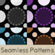 Dark Bubble Dots Pattern Set - GraphicRiver Item for Sale