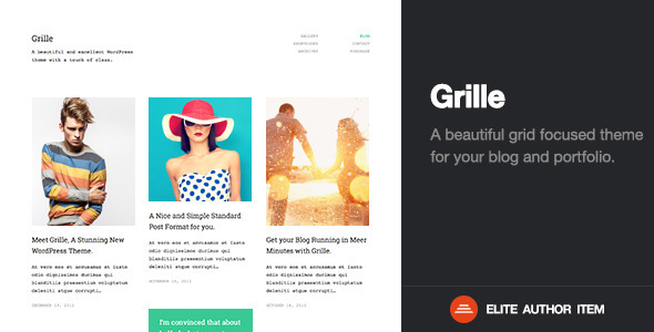 Grille | Retina Responsive Portfolio & Blog Theme - Creative WordPress