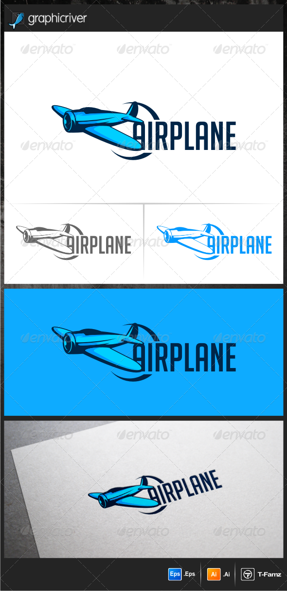 GraphicRiver Air Plane Logo Template 6872547