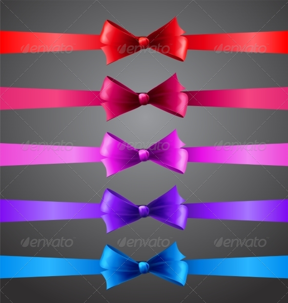 GraphicRiver Ribbons with Bows 6873567