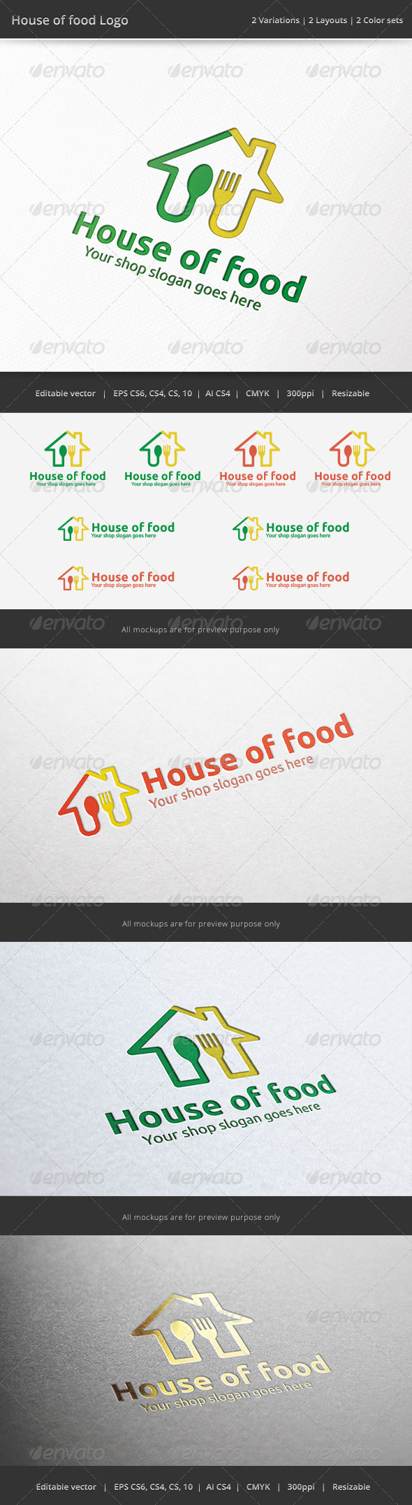 GraphicRiver House of Food Logo 6873632