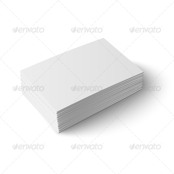 GraphicRiver Stack of Blank Business Cards 6873746