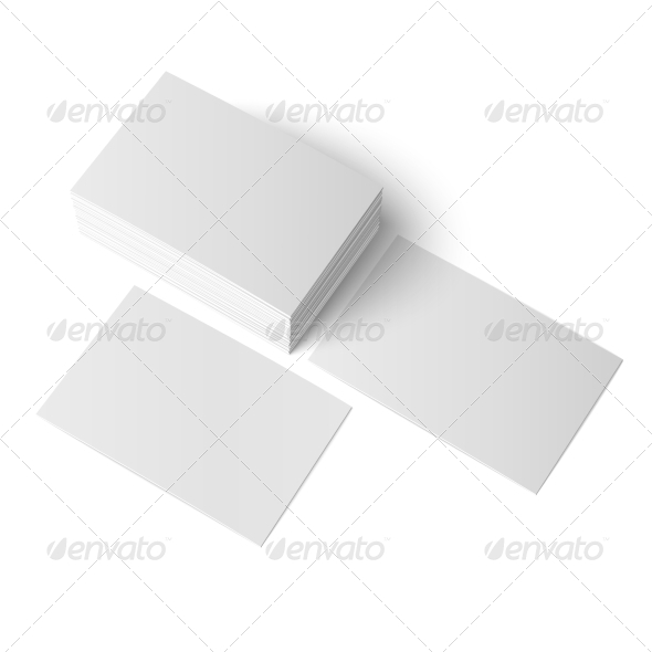 GraphicRiver Stack of Blank Business Cards 6873747