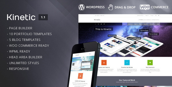 Kinetic - Multipurpose Responsive Theme - WordPress