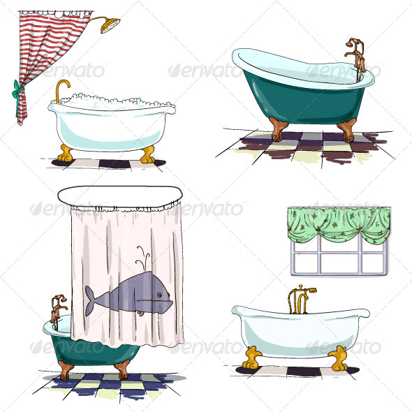 GraphicRiver Bathroom Interior Elements 6875581