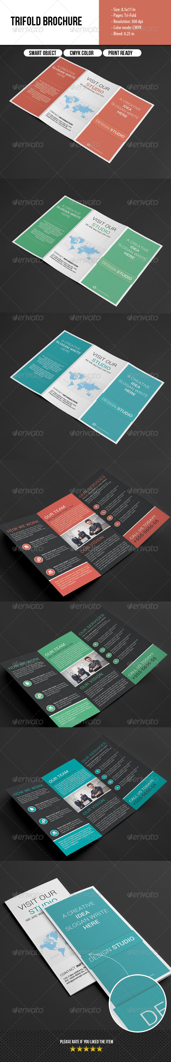 GraphicRiver Multipurpose Trifold Brochure 6875849
