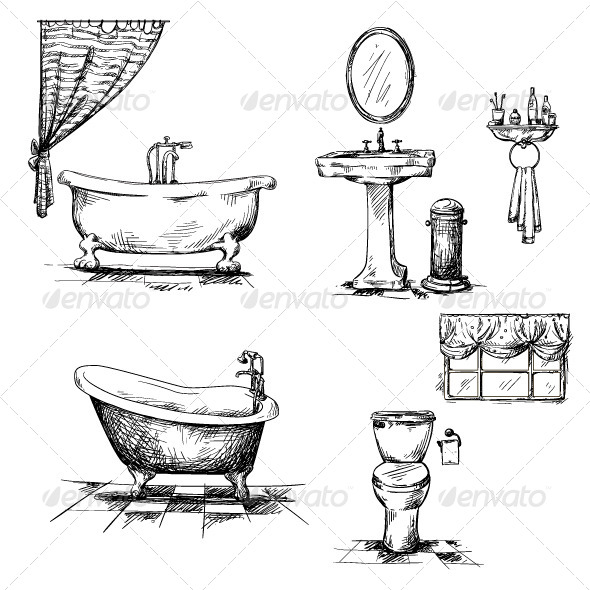 GraphicRiver Bathroom Interior Elements 6875920