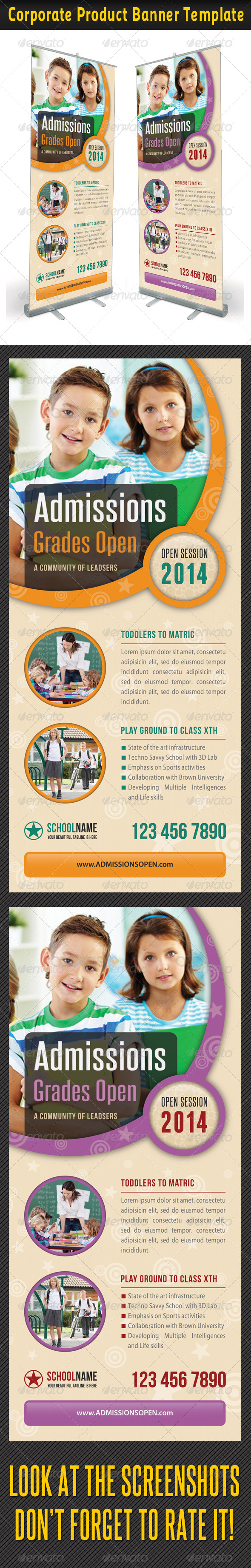 GraphicRiver Junior School Promotion Banner Template 6876874